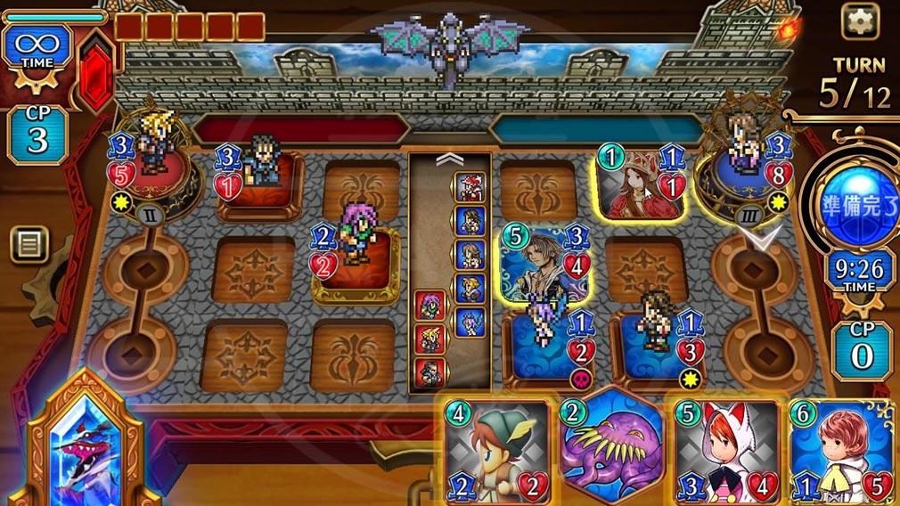 FINAL FANTASY DIGITAL CARD GAME(FFDCG) PC カードバトルスクリーンショット