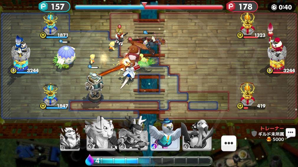 ウィムジカル ウォー(Whimsical War) PC ブラウザ版リアルタイムバトルスクリーンショット
