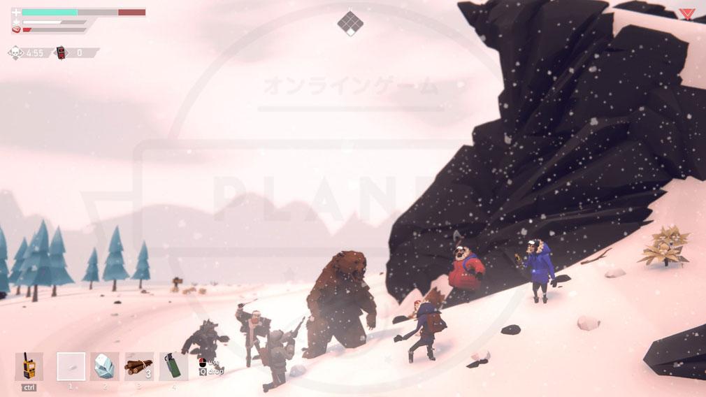 Project Winter PC 野生のクマとの戦闘スクリーンショット