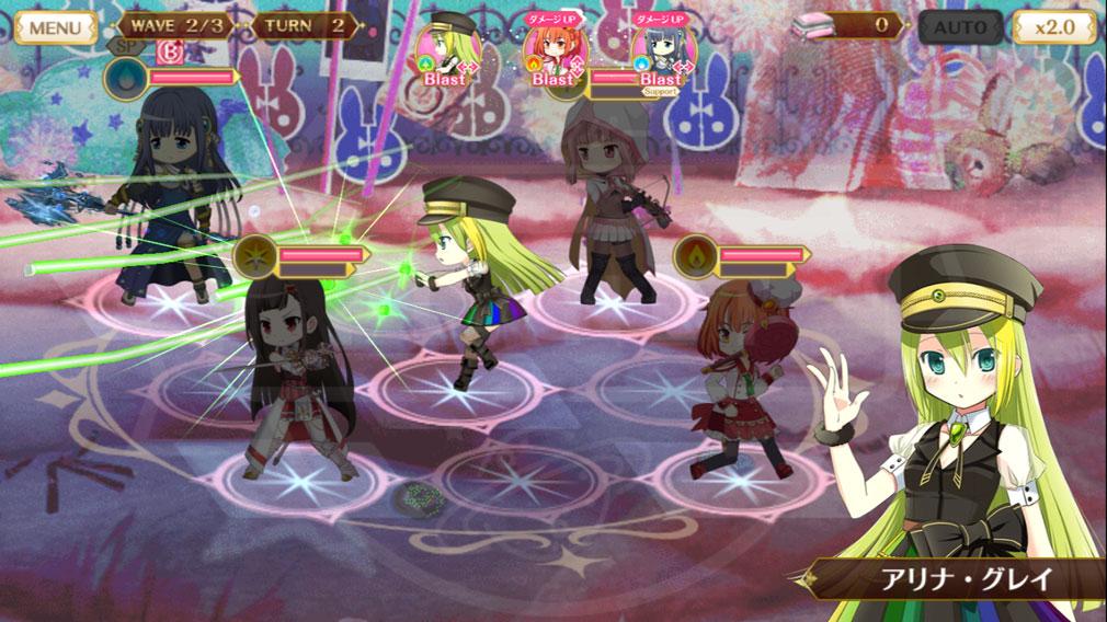 マギアレコード(マギレコ) 魔法少女まどか☆マギカ外伝 PC版 通常のバトルスクリーンショット