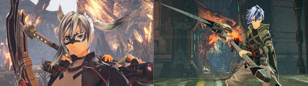 GOD EATER 3(ゴッドイーター3) GE3 PC エクステと仮面を装着したキャラクターメイキングスクリーンショット