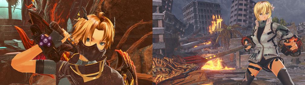 GOD EATER 3(ゴッドイーター3) GE3 PC メカミミとフェイスマスクを装着したキャラクターメイキングスクリーンショット