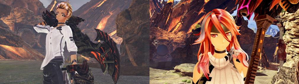 GOD EATER 3(ゴッドイーター3) GE3 PC エクステとヘッドギアを装着したキャラクターメイキングスクリーンショット