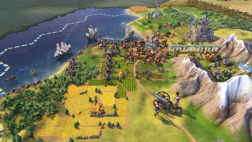 シドマイヤーズ シヴィライゼーション6 (Sid Meier's Civilization VI)Civ6 PC マルチプレイバトルスクリーンショット