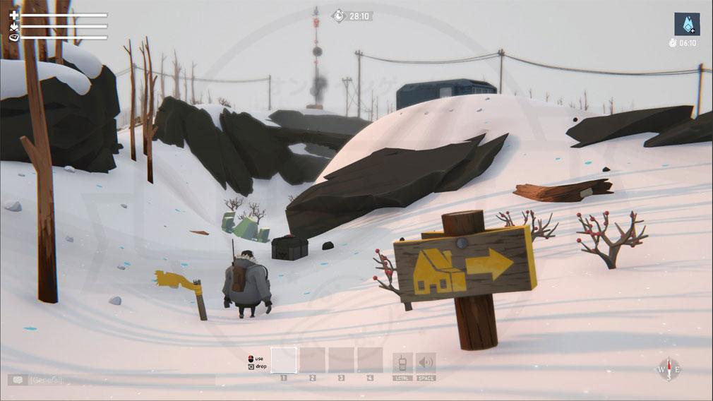Project Winter PC 極寒の雪原で遭難したキャラクターのスクリーンショット