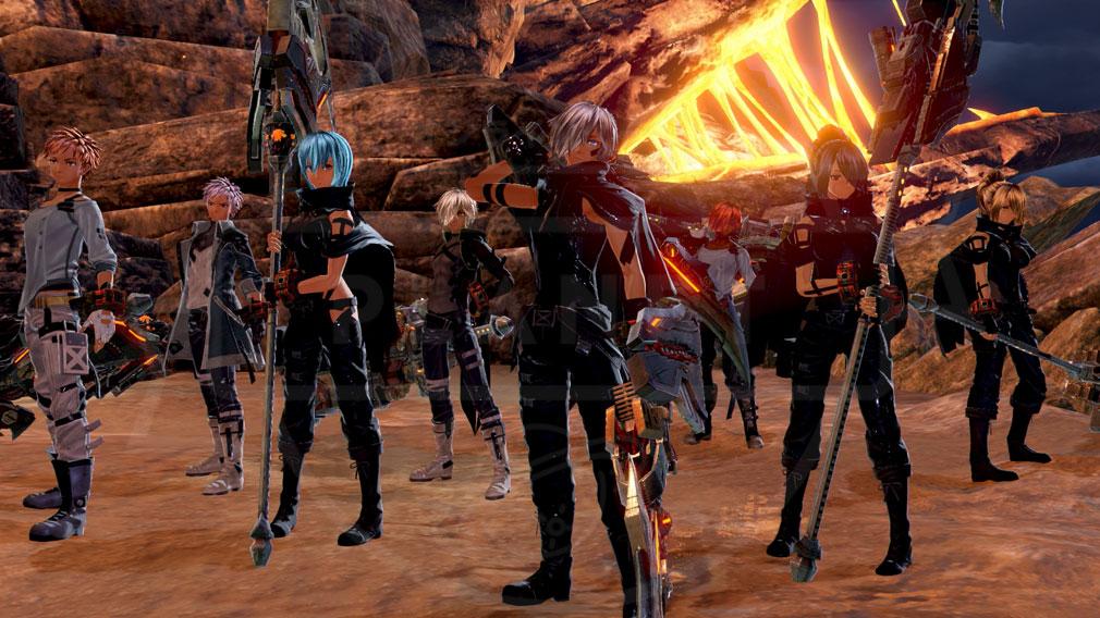 GOD EATER 3(ゴッドイーター3) GE3 PC エイトマンセル(8人部隊)による『強襲討伐ミッション』スクリーンショット
