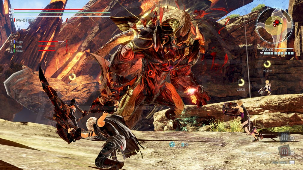 GOD EATER 3(ゴッドイーター3) GE3 PC 『強襲討伐ミッション』バトルスクリーンショット
