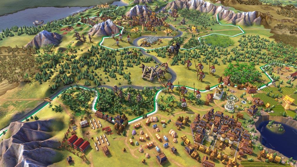 シドマイヤーズ シヴィライゼーション6 (Sid Meier's Civilization VI)Civ6 PC 様々な文明発展スクリーンショット