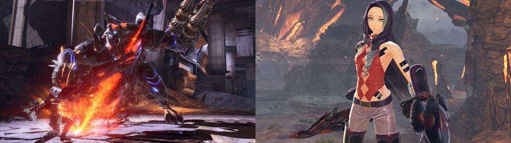 GOD EATER 3(ゴッドイーター3)  GE3 PC バスターブレードのバーストアーツ『爆砕撃』、新キャラクター『ルル』スクリーンショット