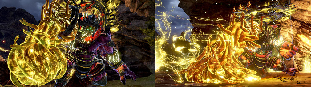 GOD EATER 3(ゴッドイーター3) GE3 PC アラガミ『ナヴァド・ヌァザ』とのバトルスクリーンショット