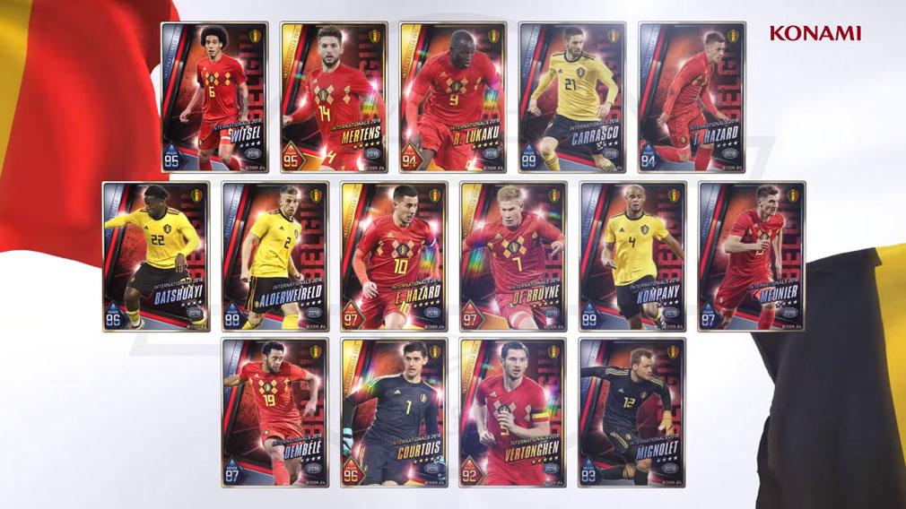 ウイニングイレブン カードコレクション(ウイコレ) PC 実写で収録されている世界の人気選手カードイメージ