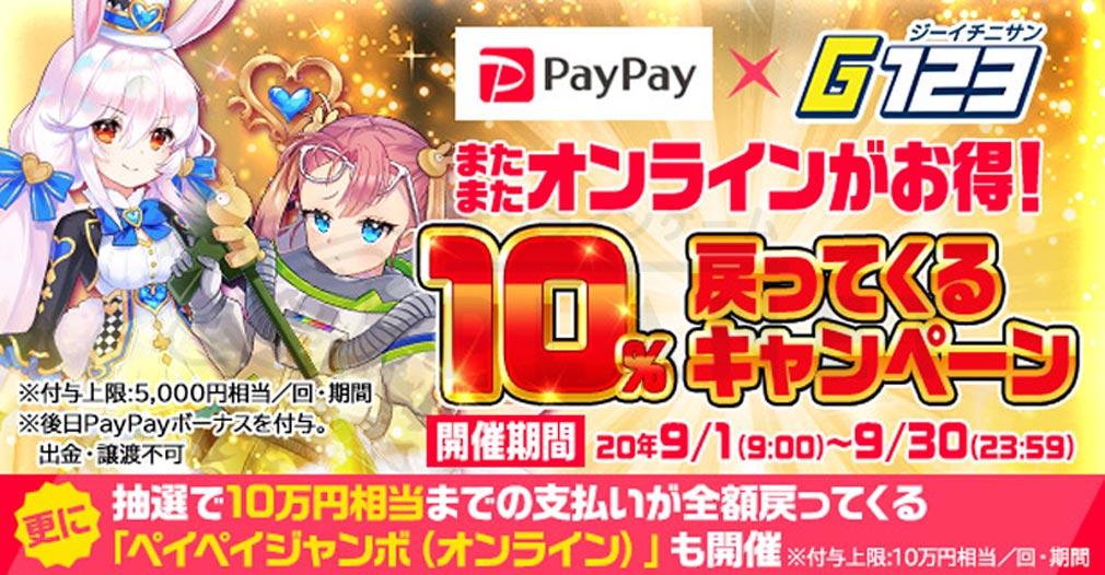 『G123』×『PayPay』連携キャンペーン紹介イメージ