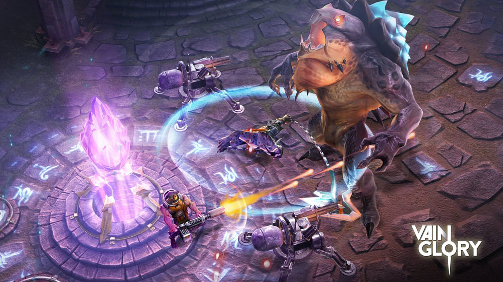 Vainglory (ベイングローリー) 敵陣のコア破壊を目指すバトルスクリーンショット