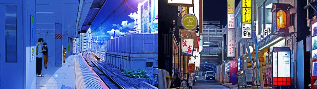 マジカミ(MAGIC AMI) MGCM 渋谷を舞台にした『駅のホーム』、『裏路地』イメージ