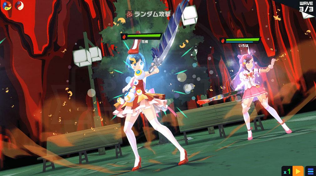 マジカミ(MAGIC AMI) MGCM 魔法少女『朝永 花織 (ともなが かおり)』キャラクター変身後スクリーンショット
