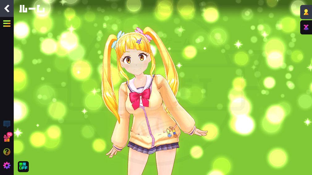 マジカミ(MAGIC AMI) MGCM 魔法少女『百波瀬 ここあ (ゆわせ ここあ)』キャラクター変身前スクリーンショット