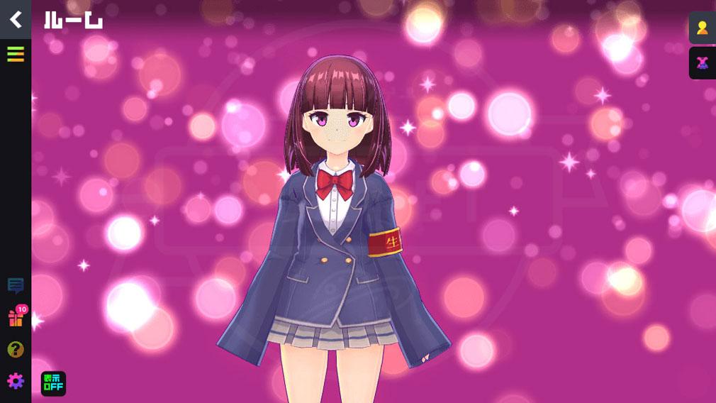 マジカミ(MAGIC AMI) MGCM 魔法少女『東山 陽彩 (ひがしやま あきさ)』キャラクター変身前スクリーンショット