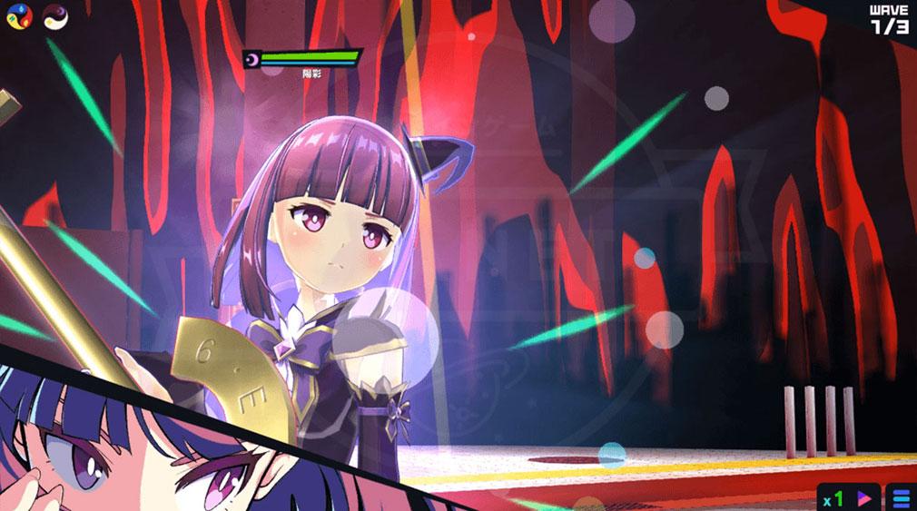 マジカミ(MAGIC AMI) MGCM 魔法少女『東山 陽彩 (ひがしやま あきさ)』キャラクター変身後スクリーンショット