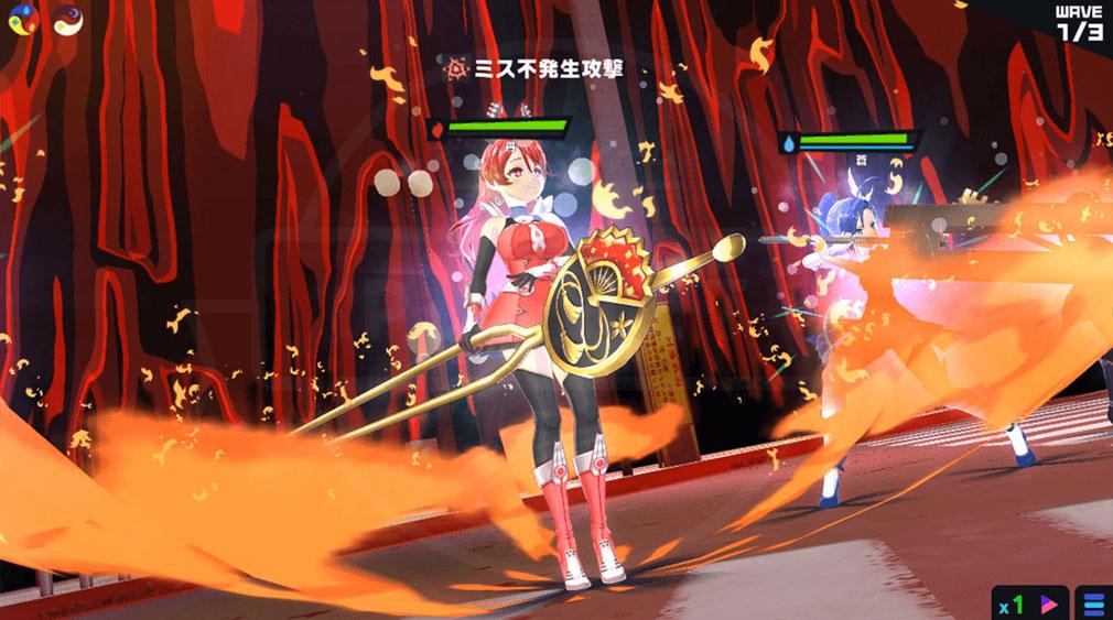 マジカミ(MAGIC AMI) MGCM 魔法少女『大鳥 丹 (おおとり あか)』キャラクター変身後スクリーンショット