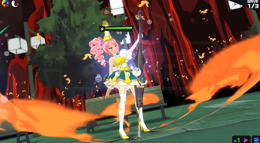 マジカミ(MAGIC AMI) MGCM 魔法少女『槍水 りり (やりみず りり)』キャラクター変身後スクリーンショット
