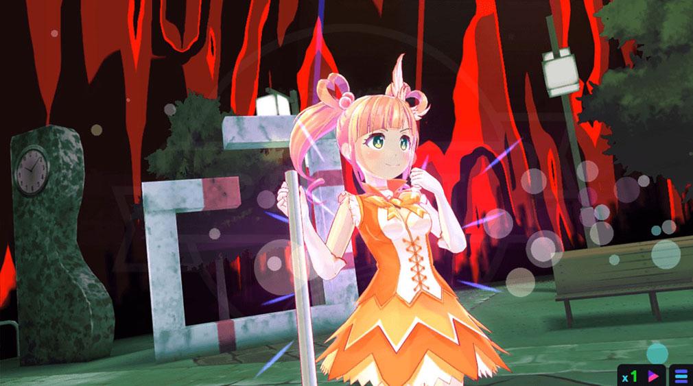 マジカミ(MAGIC AMI) MGCM 魔法少女『及川 依子 (おいかわ いこ)』キャラクター変身後スクリーンショット