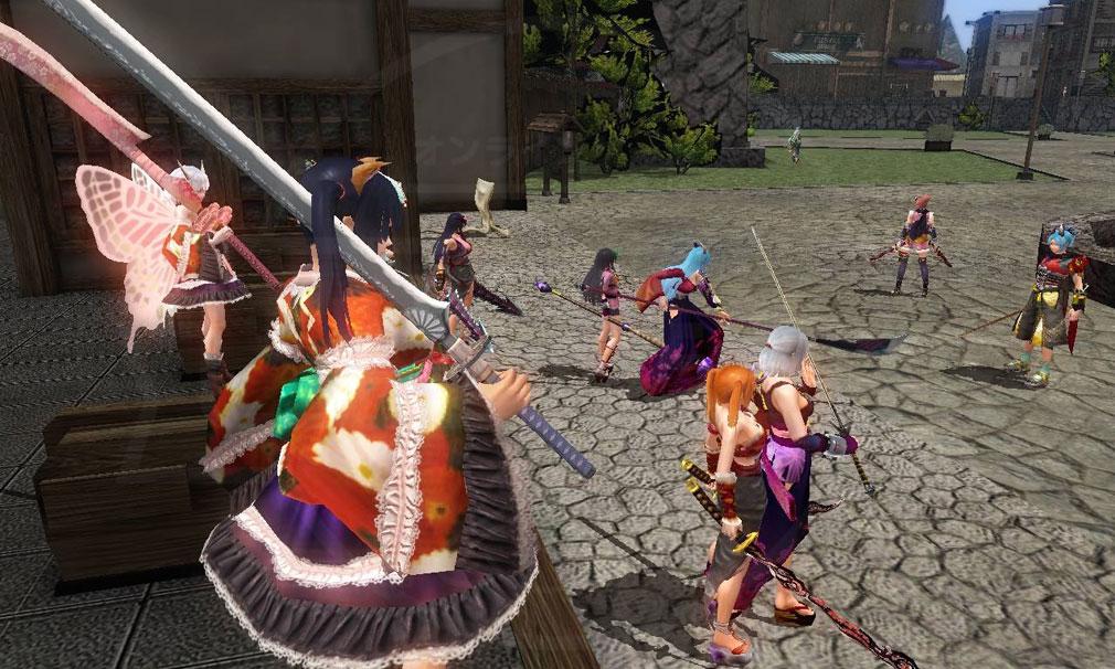 鬼斬(Onigiri) 色々なキャラクターが集まった時のスクリーンショット