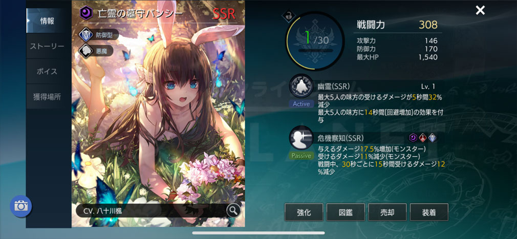 TERA ORIGIN(テラ・オリジン) SSR『バンシー』レイヴン詳細スクリーンショット