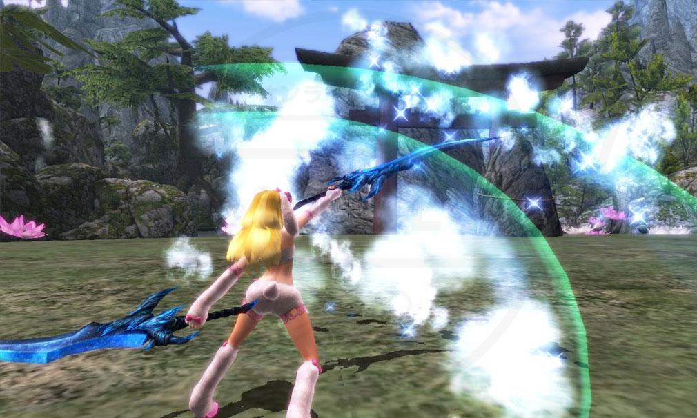 鬼斬(Onigiri) 武器『双剣』を使用したバトルスクリーンショット