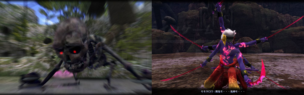 鬼斬(Onigiri) 色々な魔物『神喰い』が登場するシナリオパートスクリーンショット