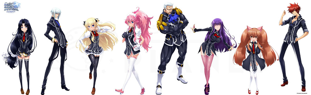 クイズマジックアカデミー 軌跡の交叉 Xross Voyage (QMAXV) 新しい制服姿で登場するキャラクターイメージ