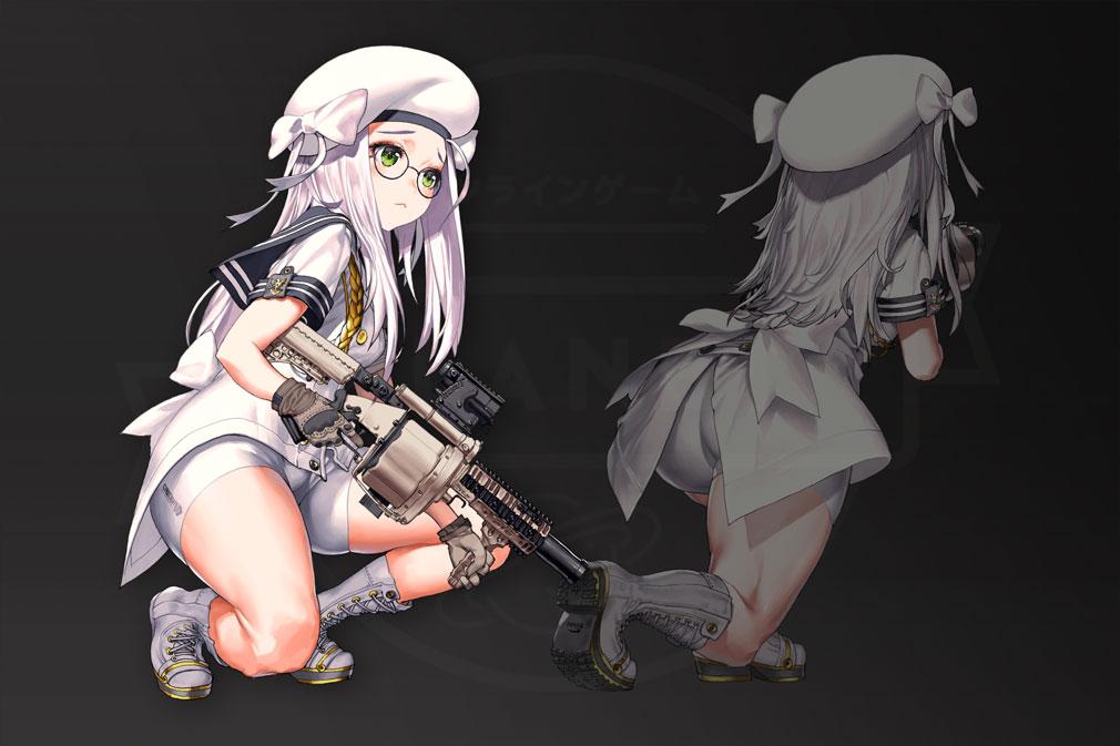 NIKKE The Goddess of Victory (ニケ) 戦闘アンドロイド『NIKKE(ニケ)』の正面と背面スクリーンショット