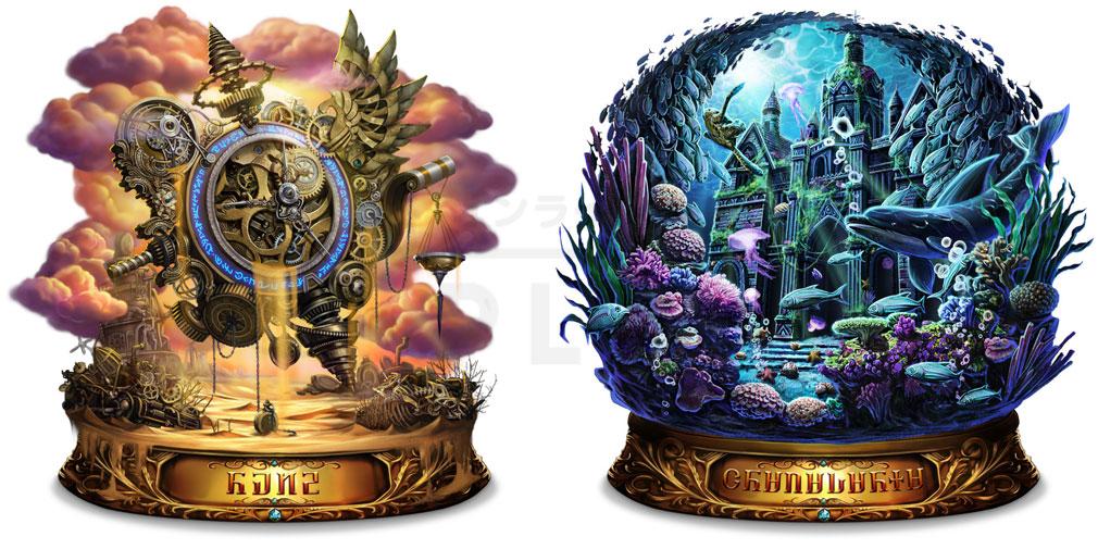 ラストクラウディア(LAST CLOUDIA)ラスクラ アーク『永久時計デ=ロウ』、『海竜神殿グラナ・ダリア』紹介イメージ