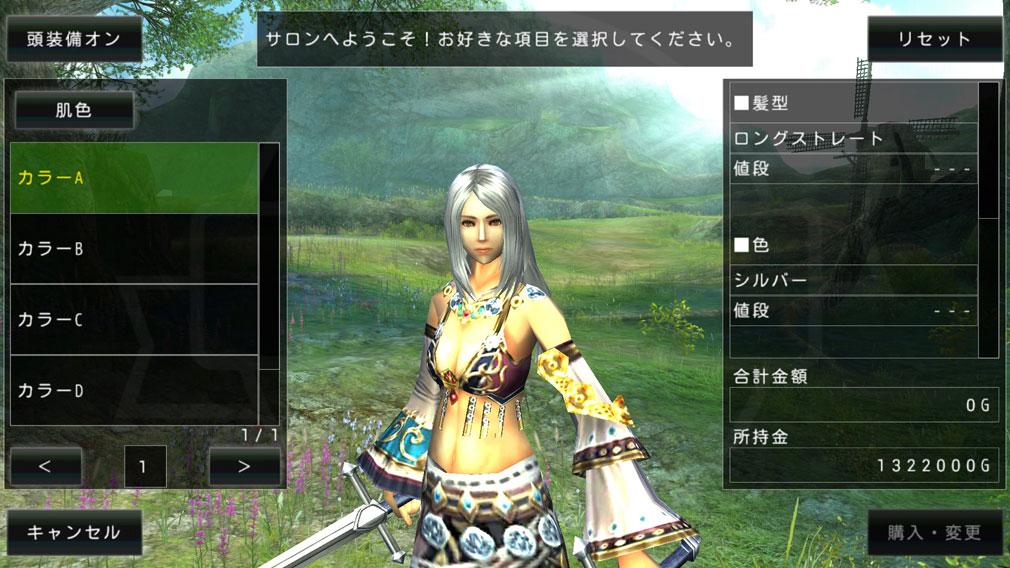 アヴァベルオンライン(AVABEL ONLINE) 絆の塔 キャラクターメイクスクリーンショット
