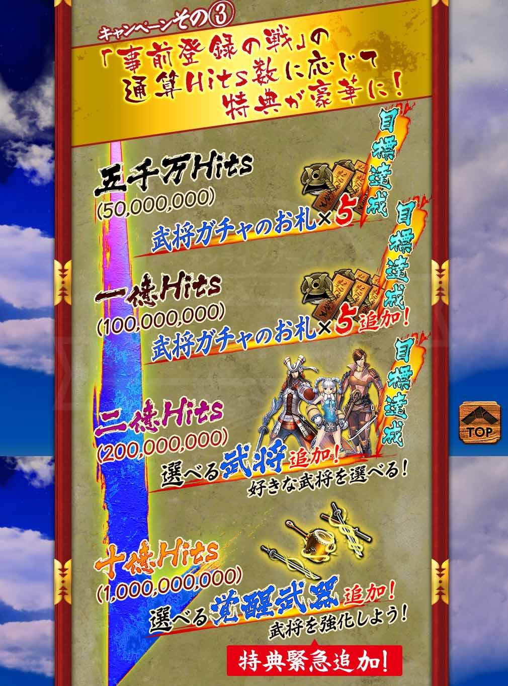 戦国BASARA バトルパーティー (バトパ) 『事前登録の戦』特典紹介イメージ