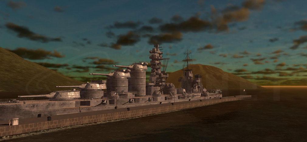 艦つく Warship Craft 艦『日高見』港の異なる情景スクリーンショット