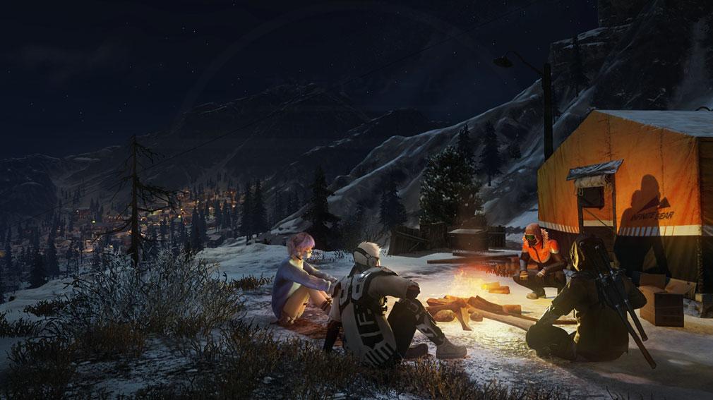 Ring of Elysium (ROE) 夜間キャンプスクリーンショット