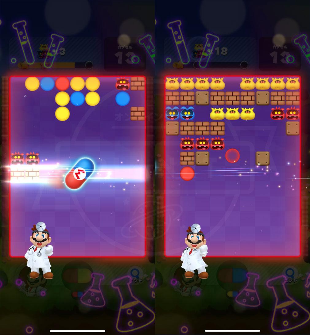 ドクターマリオ ワールド(Dr. Mario World)ドクターキャラ『マリオ』スキル発動スクリーンショット