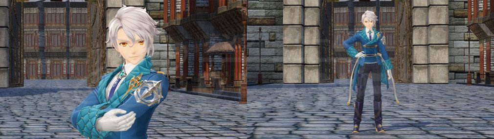 テイルズ オブ クレストリア(テイクレ) メインキャラクター『イージス・アルヴァ(Aegis Alver)』のバストアップ、全身スクリーンショット