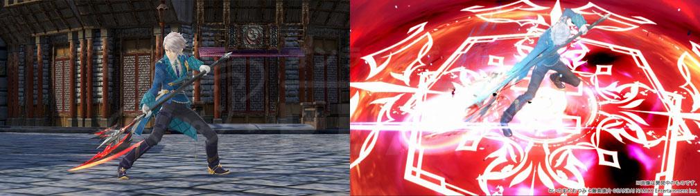 テイルズ オブ クレストリア(テイクレ) メインキャラクター『イージス・アルヴァ(Aegis Alver)』の武器、秘奥義スクリーンショット