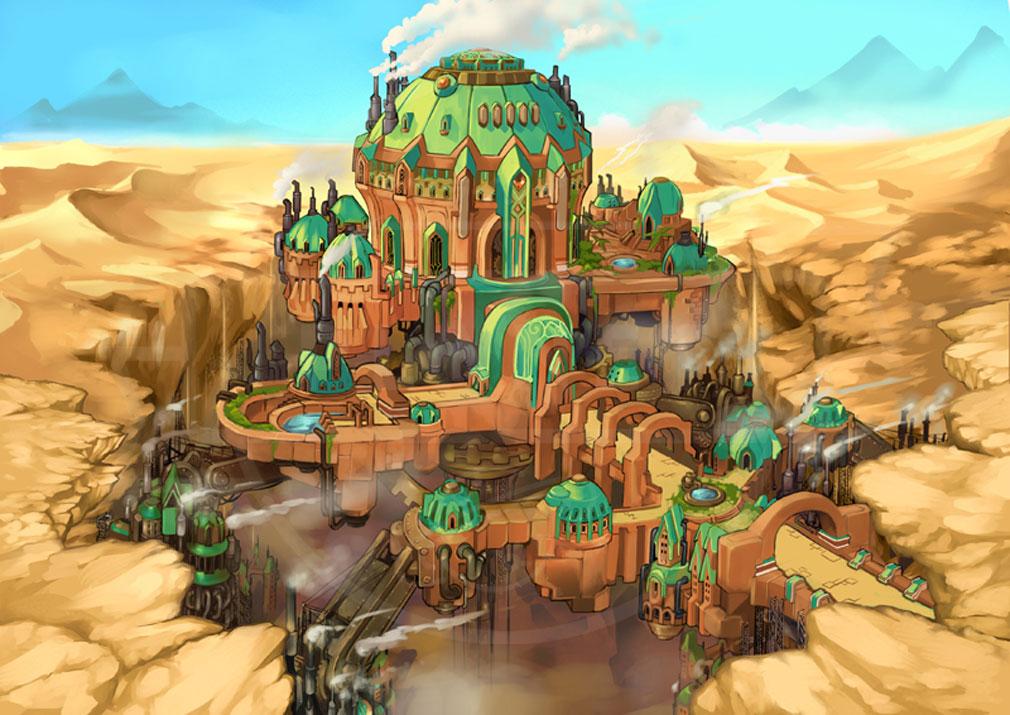 MEOW 王国の騎士 キャメロットの都市『機械仕掛けの移動都市 ジル』紹介イメージ