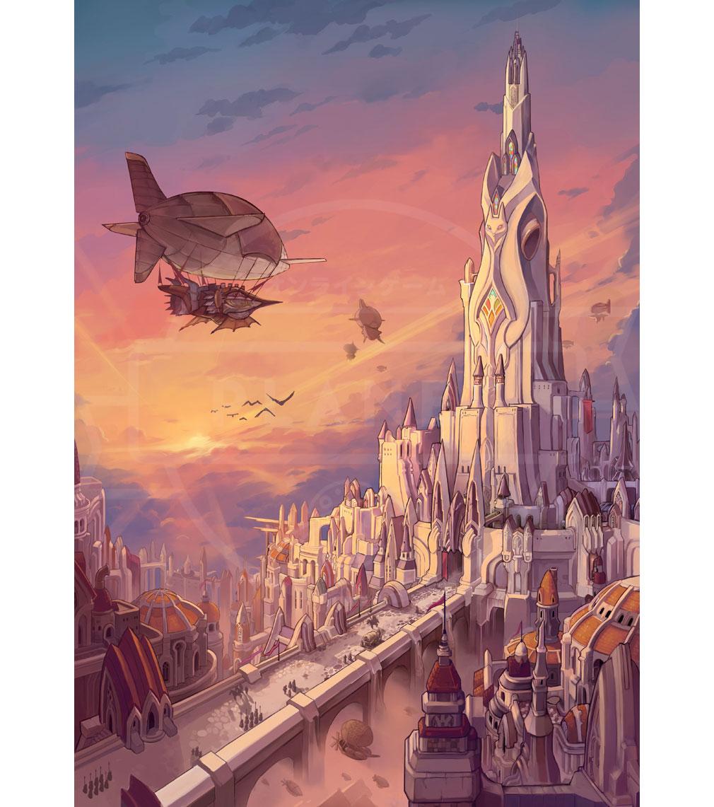 MEOW 王国の騎士 キャメロットの都市『キャメロットの中心地 王都』紹介イメージ