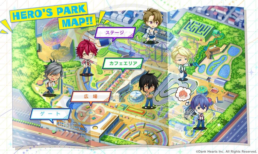 ヒーロー'sパーク(ヒロパ) 『遊園地MAP』アトラクション以外の紹介イメージ