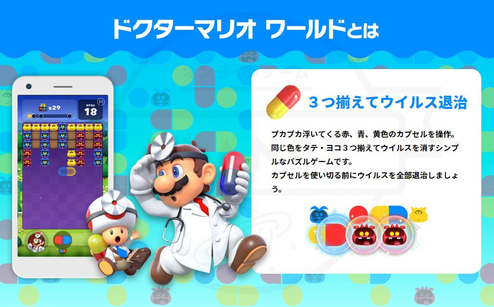 ドクターマリオ ワールド(Dr. Mario World) 概要紹介イメージ