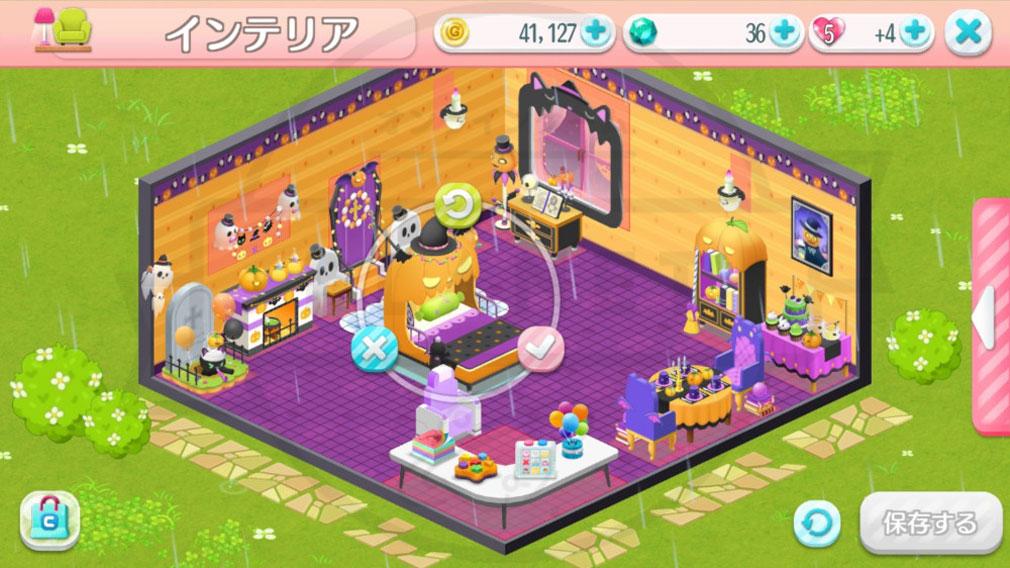 マイスウィートルーム おしゃれな部屋のコーディネート 家具配置中スクリーンショット