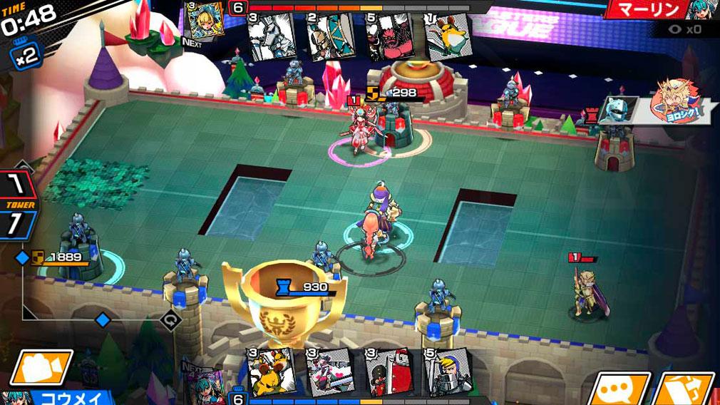 リーグ オブ ワンダーランド(リグワン) 3D機能搭載のバトルスクリーンショット