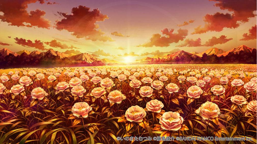 テイルズ オブ クレストリア(テイクレ) 夕日に照らされたシラヌイの花畑紹介イメージ