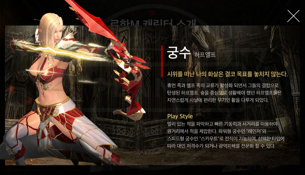 ROHAN M アーチャー『ハーフエルフ』紹介イメージ