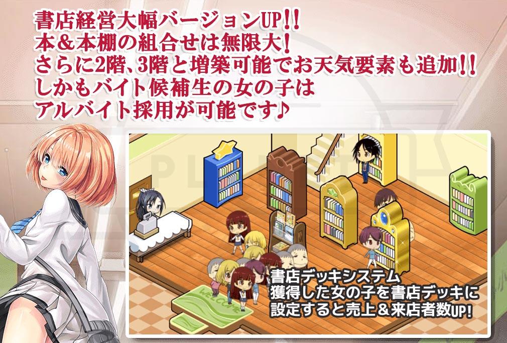 恋する書店 モテ期な俺のハーレム生活 経営システム紹介イメージ