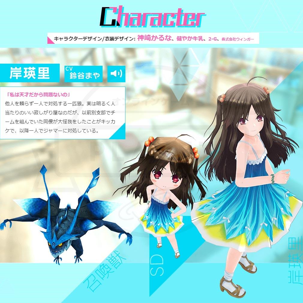 デタリキZ 特別防衛局隊員の日常 キャラクター『岸 瑛里』紹介イメージ
