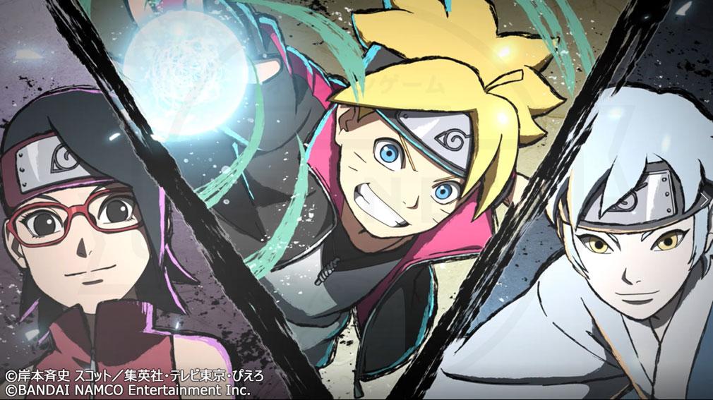 NARUTO X BORUTO 忍者TRIBES(ナルト×ボルト ニンジャトライブス) 『スリーマンセル』連係攻撃『ボルト×サラダ×ミツキ』スクリーンショット